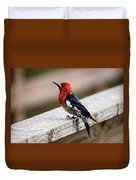 The Red Head Duvet Cover