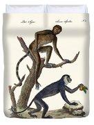 The Red Howler Monkey Duvet Cover