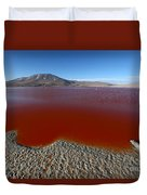 The Red Lagoon Duvet Cover