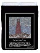 The Red Lighthouse Duvet Cover