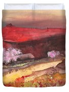 The Red Mountain Duvet Cover