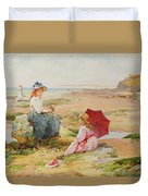 The Red Parasol Duvet Cover by Alfred Glendening Jr