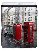 The Red Phone Booth Duvet Cover