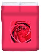 The Red Rose Blooming Duvet Cover
