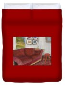 The Red Sofa Duvet Cover