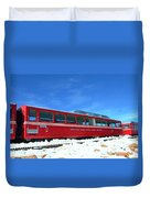 The Red Train Duvet Cover