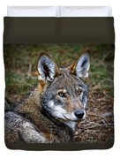 The Red Wolf Duvet Cover
