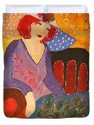 The Redhead Duvet Cover