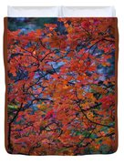 The Reds Of Autumn  Duvet Cover