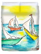 The Regatta Duvet Cover by Brenda Ruark