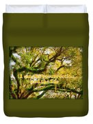 The Resurrection And The Life Duvet Cover