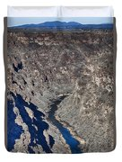 The Rio Grande River-arizona  Duvet Cover