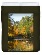The River Flows Duvet Cover