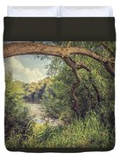 The River Severn At Buildwas Duvet Cover