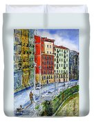 The Riverside Houses At Bilbao La Vieja Duvet Cover