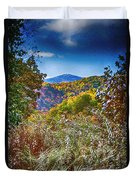 The Road To Cataloochee On A Frosty Fall Morning Duvet Cover