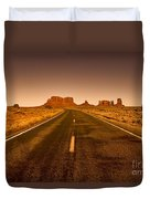 The Road To Monument Valley -utah  Duvet Cover