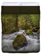 The Rock At Panther Creek Duvet Cover