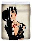 The Rocky Horror Picture Show - Dr. Frank-n-furter Duvet Cover by Ayse Deniz