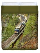 The Rocky Mountaineer Above The Cheakamus River Duvet Cover