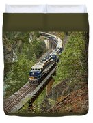 The Rocky Mountaineer Duvet Cover