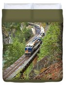 The Rocky Mountaineer Railroad Duvet Cover