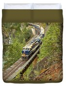 The Rocky Mountaineer Train Duvet Cover