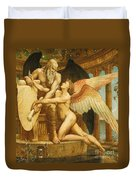 The Roll Of Fate Duvet Cover by Walter Crane
