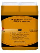 The Rolling Stones Sticky Fingers Side 1 Duvet Cover