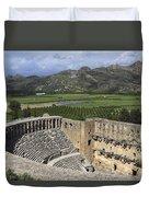 The Roman Theatre In Aspendos Antalya Turkey  Duvet Cover