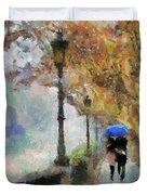 The Romantic Stroll Duvet Cover