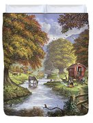 The Romany Camp Duvet Cover