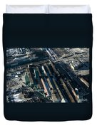 The Rooftops Of Arcelormittal Dofasco Duvet Cover