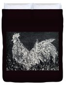 The Rooster - Oil Painting Duvet Cover