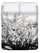 The Roots In Black And White Duvet Cover by Lisa Russo