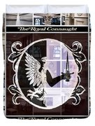 The Royal Connaught Crest Photo Collage Duvet Cover