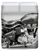 The Royal Enfield Motorbike Duvet Cover