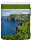 The Rugged Green Shore Duvet Cover