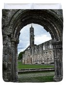 The Ruins Of St Andrews Cathedral Duvet Cover