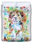 The Running Puppy Duvet Cover