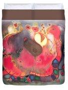 The Sacred Snake Duvet Cover by Jane Deakin
