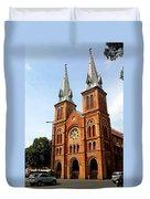 The Saigon Notre-dame Basilica Duvet Cover