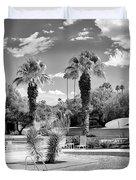 The Sandpiper Pool Bw Palm Desert Duvet Cover