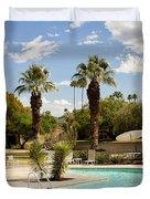 The Sandpiper Pool Palm Desert Duvet Cover