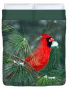The Santa Bird Duvet Cover