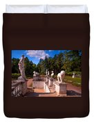The Satutues Of Archangelskoe Palace. Russia Duvet Cover