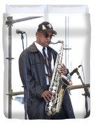 The Saxophone Player Duvet Cover