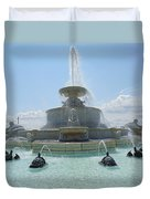 The Scott Fountain On Belle Isle Duvet Cover