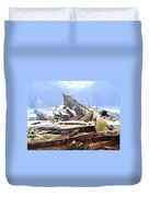 The Sea Of Ice Polar Sea Duvet Cover