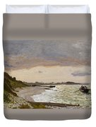 The Seashore At Sainte Adresse Duvet Cover
